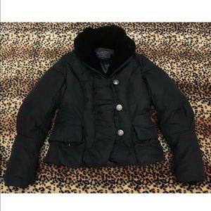 Pendleton Puffer Coat Women's Small Black Winter